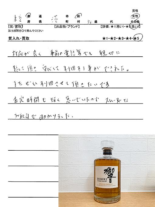 東京都港区 / 50代 / 女性のお客様からいただいたお声